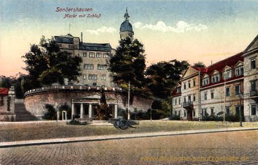 Sondershausen, Markt mit Schloss