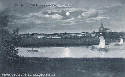 Sternberg in Mecklenburg vom Heidberg aus gesehen