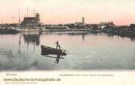 Wismar, Totalansicht vom neuen Hafen aus gesehen