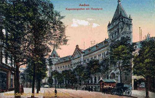 Aachen, Kapuzinergraben mit Hauptpost