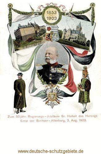 Ernst Herzog von Sachsen-Altenburg, 1903