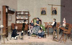 Altenburger Bauerntrachten, Mutter erzählt Märchen