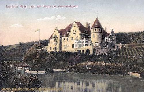 Aschersleben, Landsitz Haus Lapp am Berge