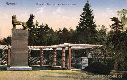 Barmen, Ehrenfriedhof für gefallene Krieger