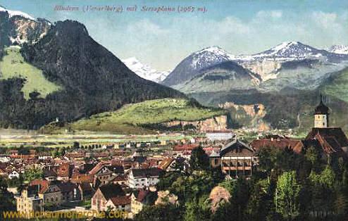 Bludenz (Vorarlberg) mit Scesaplana (2967 m)