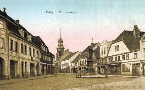 Burg b. M., Marktplatz