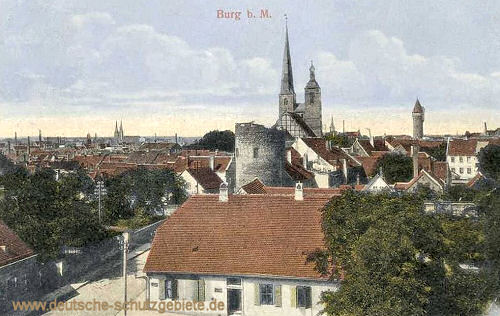 Burg b. M.,Stadtansicht