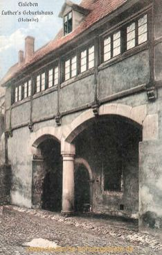 Eisleben, Luthers Geburtshaus (Hofseite)