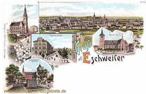 Eschweiler, Concordia, Evangelische Kirche, Katholische Kirche, Rosenallee, St. Antonius-Hospital
