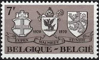 Eupen, Malmedy und St. Vith, Briefmarke Belgien 1970