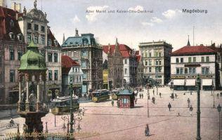 Magdeburg, Alter Markt und Kaiser-Otto-Denkmal