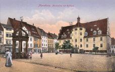 Merseburg, Markt mit Rathaus