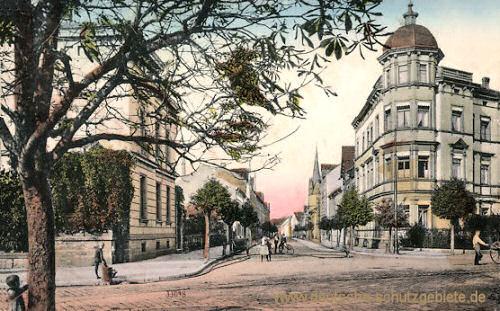 Mühlhausen i. Thür., Blick in die Wald-Straße