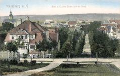 Naumburg, Blick auf Luisen-Straße und die Stadt