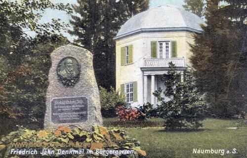 Naumburg, Friedrich Jahn Denkmal im Bürgergarten