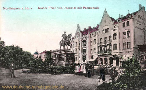 Nordhausen, Kaiser Friedrich-Denkmal mit Promenade
