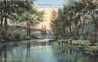 Quedlinburg, Die Bode mit Blick auf das Schloss