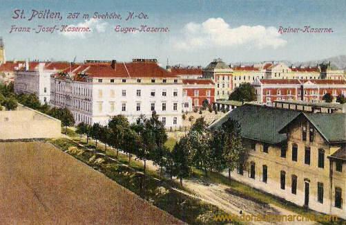 St. Pölten, Franz-Josef-Kaserne, Eugen-Kaserne, Rainer-Kaserne