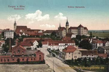 Torgau, Stadtkirche und Schloss Hartenfels