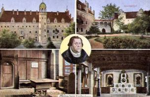 Wittenberg, Lutherhaus, Lutherhof, Lutherstube, Luthers_Lehrstuhl