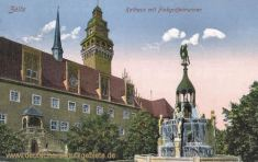 Zeitz, Rathaus mit Finkgräfebrunnen