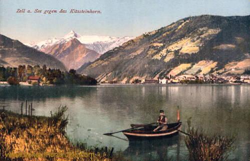 Zell am See gegen das Kitzsteinhorn