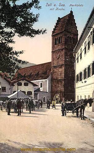 Zell am See, Marktplatz mit Kirche