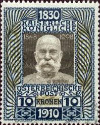 10 Kronen K.u.K. Österreichische Post 1910
