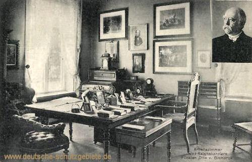 Arbeitszimmer des Reichskanzlers Otto von Bismarck