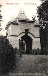 Arnsberg, Ehmsen-Denkmal
