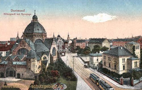 Dortmund, Hiltropwall mit Synagoge