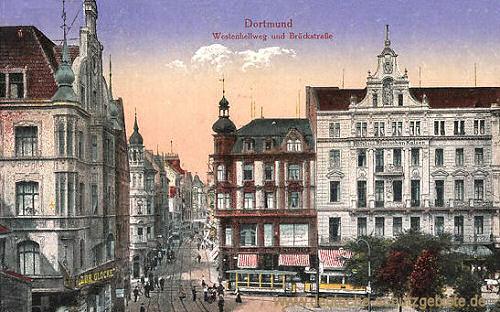Dortmund, Westenhellweg und Brückstraße