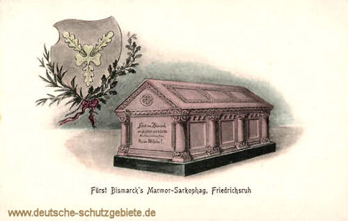 Fürst Bismarcks Marmor Sarkophag, Friedrichsruh (Wappen)