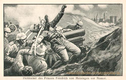Heldentod des Prinzen Friedrich von Meiningen vor Namur