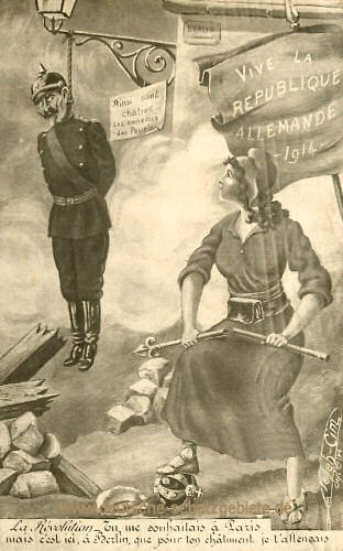 Kaiser Wilhelm II. - Vive le Republique Allemande 1914