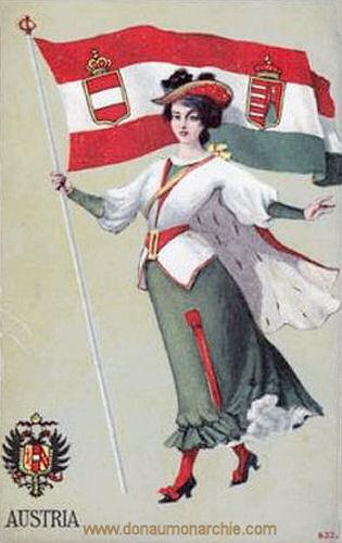 Österreich-Ungarn, Flagge und Wappen
