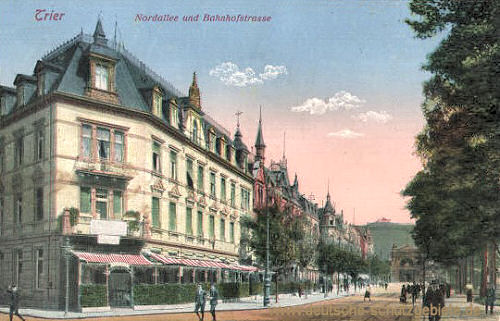 Trier, Nordallee und Bahnhofstraße