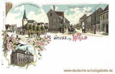 Wald (Rheinland), Ev. Kirche und Kriegerdenkmal, Obere Kaiserstraße, Rathaus