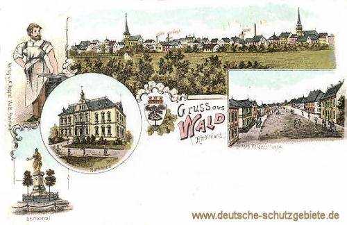 Wald (Rheinland), Untere Kaiserstraße, Rathaus, Denkmal