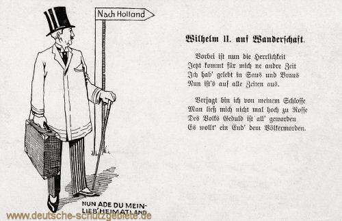 Wilhelm II. auf Wanderschaft