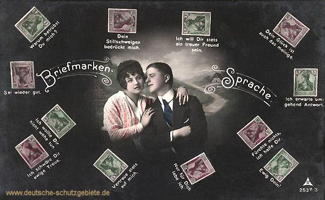 Briefmarken-Sprache