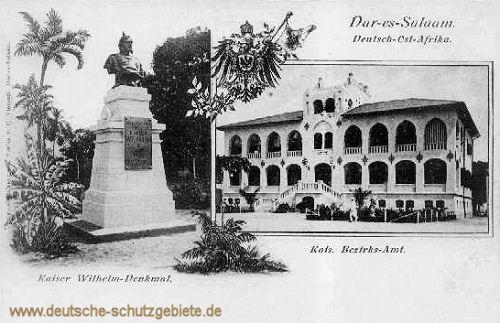 Deutsch-Ostafrika, Dar-es-Salaam, Kaiser Wilhelm-Denkmal und das Kaiserliche Bezirks-Amt
