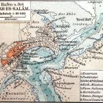 Daressalam, Stadtplan Hafen und Ort, 1910