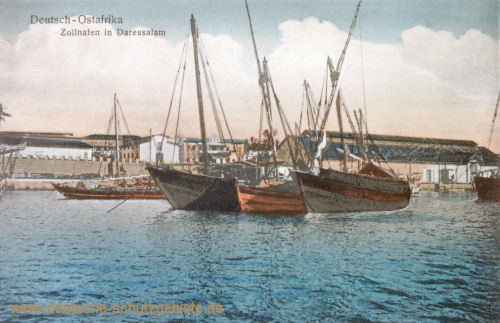 Deutsch-Ost-Afrika, Zollhafen in Daressalam