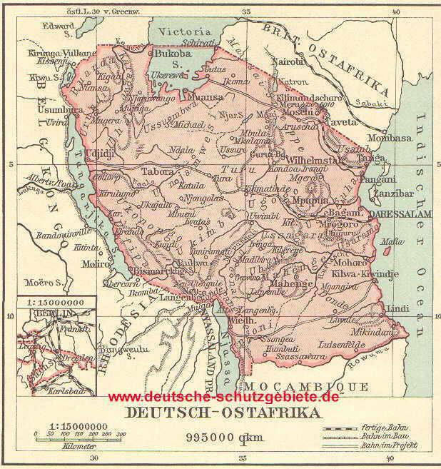 Afrika Karte Deutsch.Deutsch Ostafrika Ehemalige Kolonie 1885 1919 Deutsche