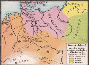 Deutschland vor der ersten westgermanischen Wanderung