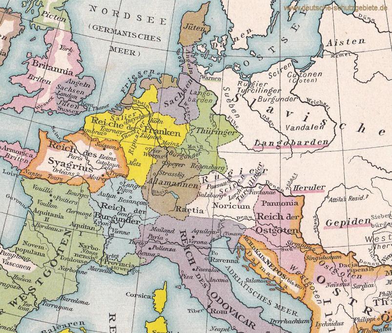 Germanische Stämme Karte.Deutsche Stämme Franken Thüringer Alemannen Bayern Sachsen
