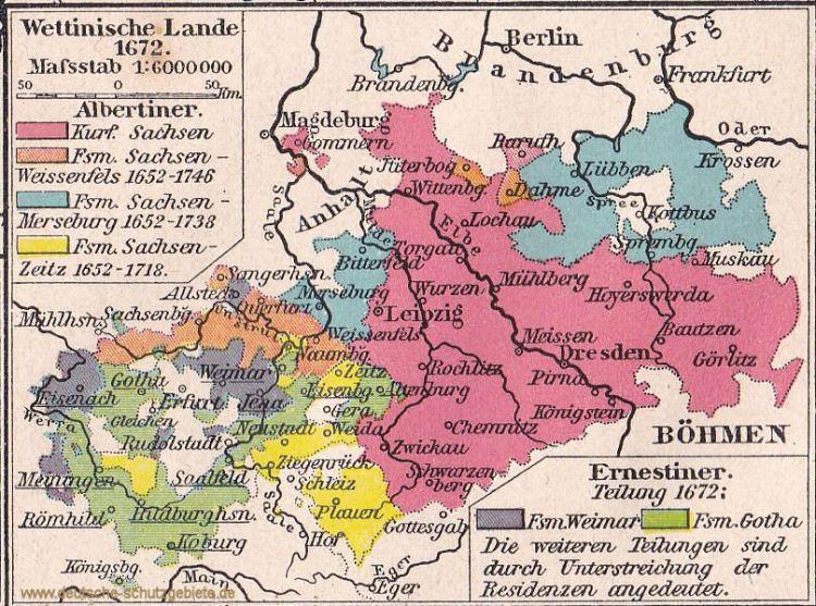 Wettinische Lande 1672