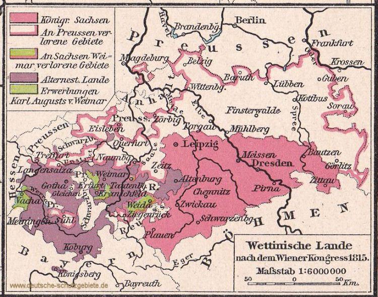 Wettinischen Lande 1815