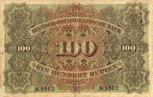 Deutsch-Ostafrikanische Bank 100 Rupien, 1905